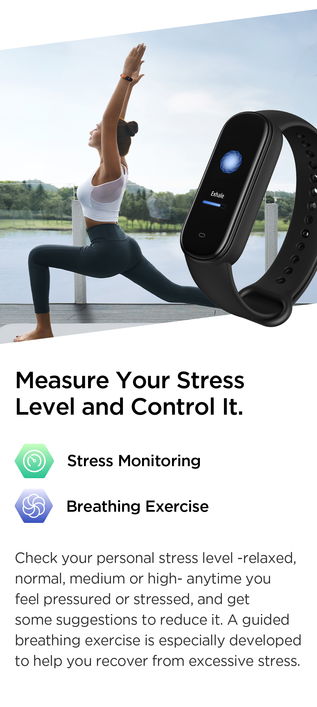 Amazfit Band 5 Stress Level Measuring