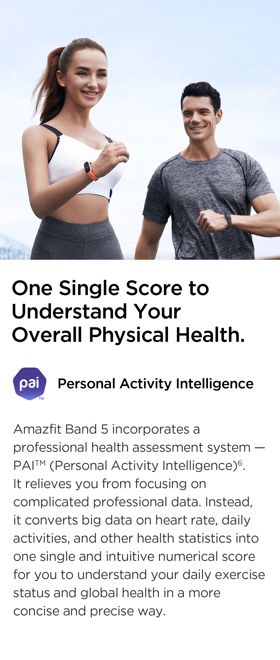 Amazfit Band 5 PAI Health Monitoring