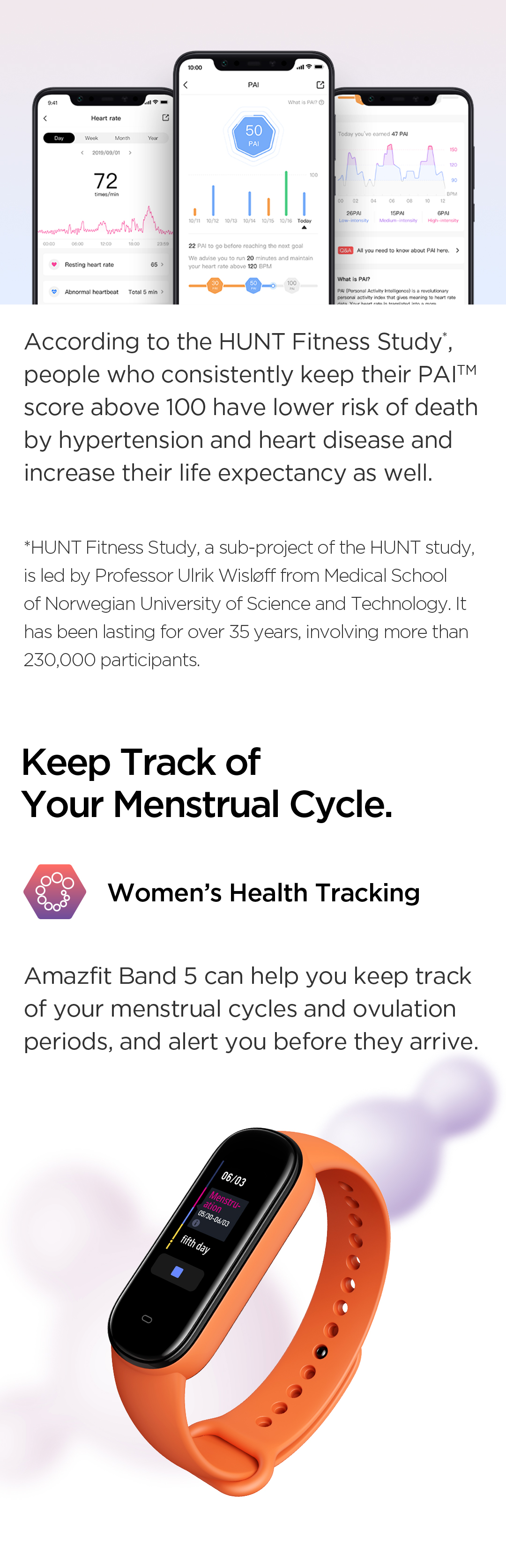 Zepp Health APP and Women's Health Tracking Function