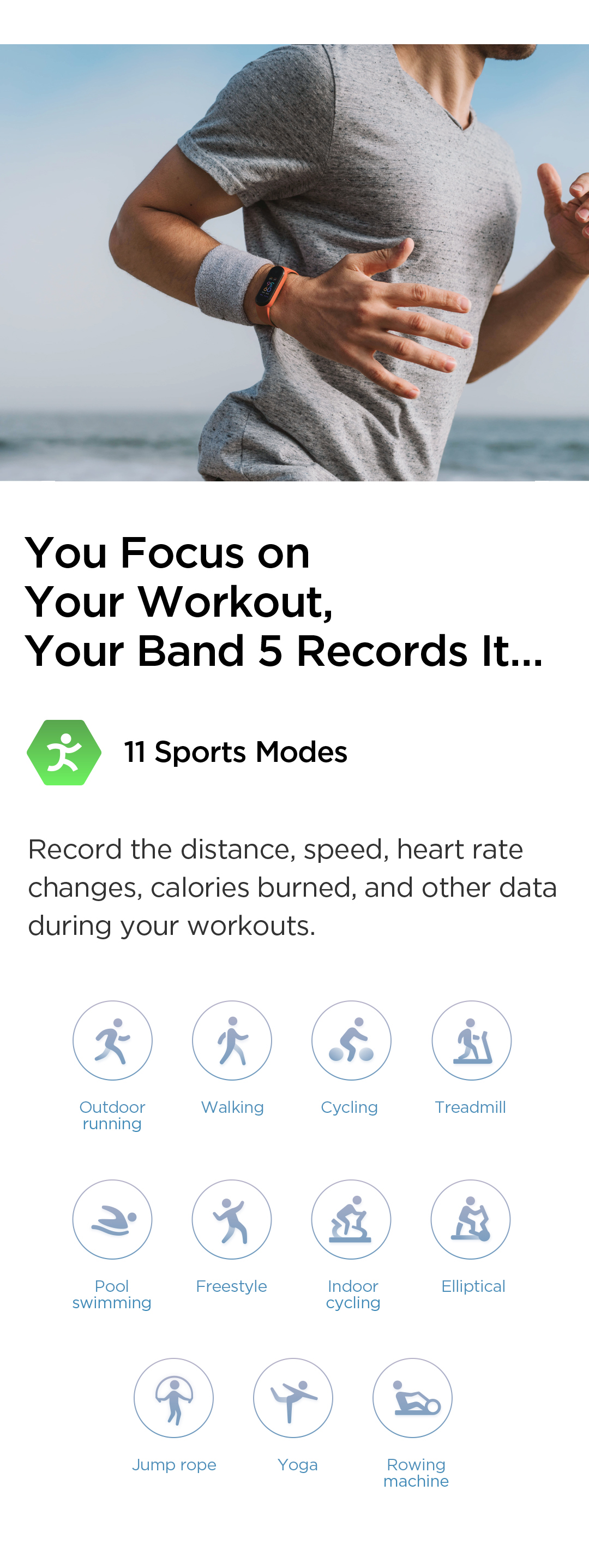 Amazfit Band 5 with 11 sports mode