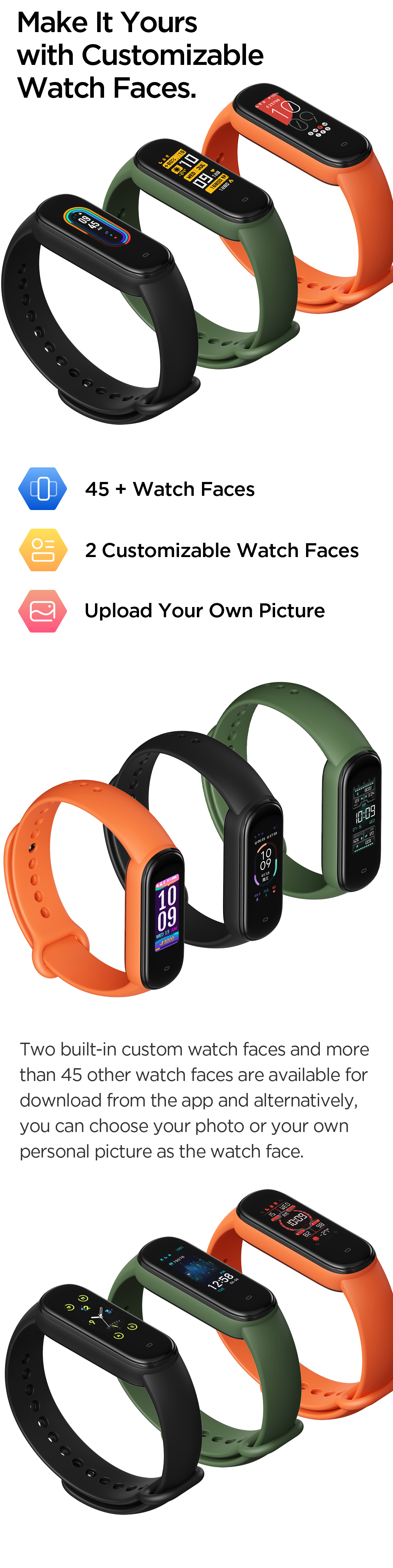 Customizable Band Watch Face