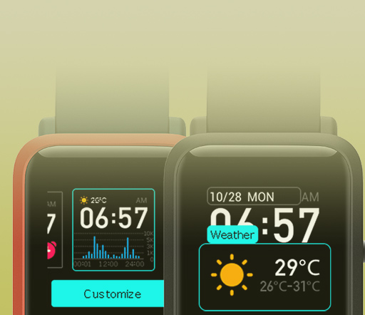 Smartwatch with Custom Display Options