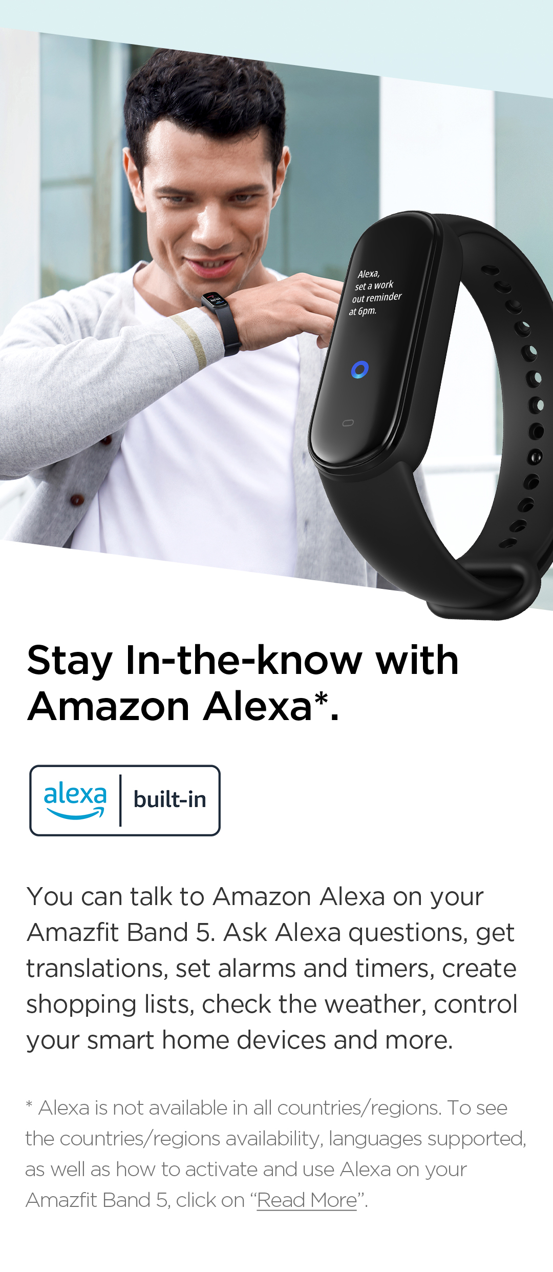 Amazfit Band 5 with Alexa Build in